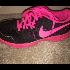 Size 4.5 Neon Pink & Black Nike Sneakers